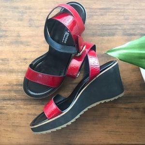 Paul Green Múnchen Red Wedges/Sandals 8